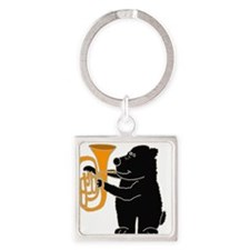 Cute Bear Square Keychain
