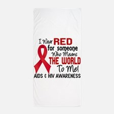 AIDS HIV MeansWorldToMe2 Beach Towel