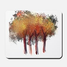 Red Trees Glowing Yellow Mousepad