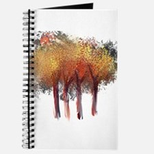 Red Trees Glowing Yellow Journal