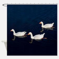 Three Emden Geese Shower Curtain