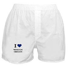 I love Winston Oregon Boxer Shorts