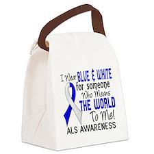 ALS MeansWorldToMe2 Canvas Lunch Bag