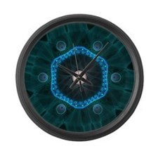 The Carbon Peacock Large Wall Clock