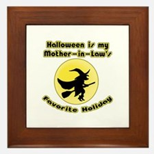 Mother in Law is a Witch Framed Tile