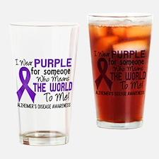 Alzheimer's MeansWorldToMe2 Drinking Glass