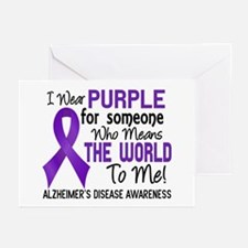 Alzheimer's MeansWorldTo Greeting Cards (Pk of 20)