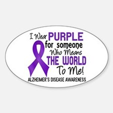 Alzheimer's MeansWorldToMe2 Sticker (Oval 10 pk)