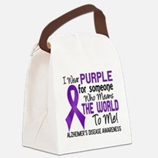 Alzheimer's MeansWorldToMe2 Canvas Lunch Bag