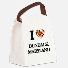 I love Dundalk Maryland Canvas Lunch Bag