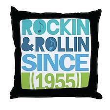 1955 Birthday Throw Pillow