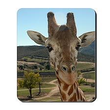 """You Called?"" - Curious Giraffe Mousepad"