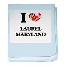 I love Laurel Maryland baby blanket
