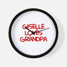 Giselle Loves Grandpa Wall Clock