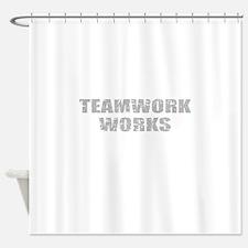 motivational teamwork Shower Curtain