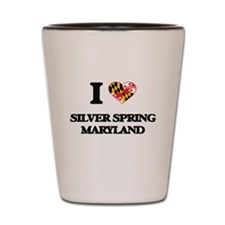 I love Silver Spring Maryland Shot Glass
