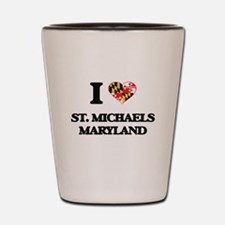 I love St. Michaels Maryland Shot Glass