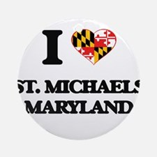 I love St. Michaels Maryland Ornament (Round)