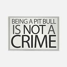 Pit Bull Not Crime Rectangle Magnet (100 pack)
