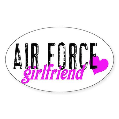 Air Force girlfriend Oval Sticker