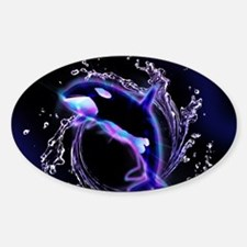 Orca jumping by a circle made og water Decal