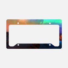 Ship in the sunset License Plate Holder