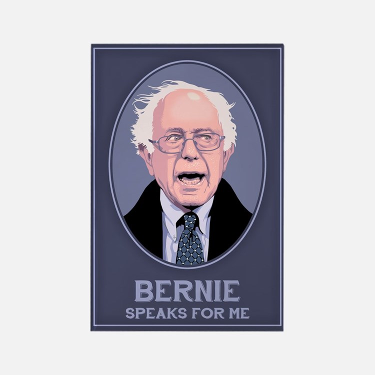 Bernie Speaks II Rectangle Magnet