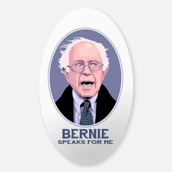 Bernie Speaks II Sticker (Oval)