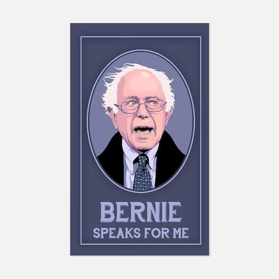 Bernie Speaks II Sticker (Rectangle)