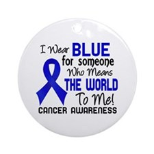 Anal Cancer MeansWorldToMe2 Ornament (Round)