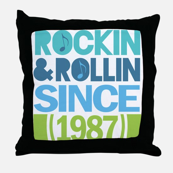 1987 Birthday Throw Pillow