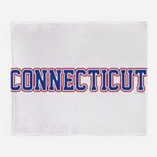 Connecticut Jersey Blue Throw Blanket