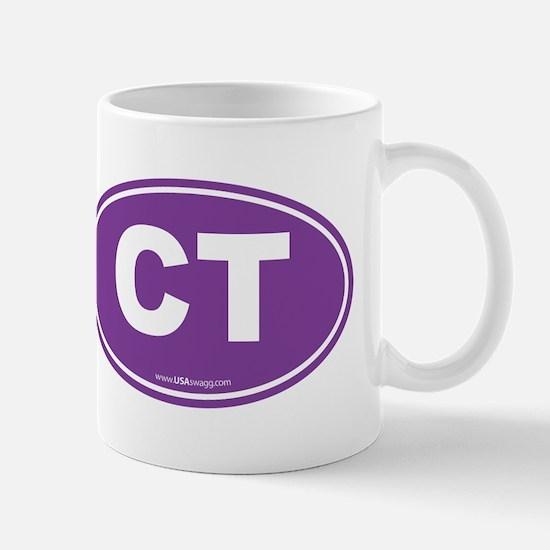 Connecticut CT Euro Oval PURPLE Mug
