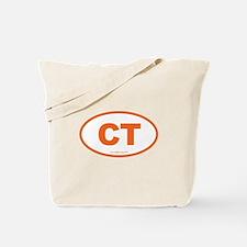Connecticut CT Euro Oval ORAGNE Tote Bag
