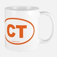 Connecticut CT Euro Oval ORAGNE Mug