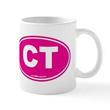 Connecticut CT Euro Oval PINK Mug