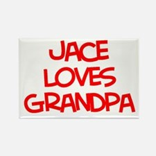 Jace Loves Grandpa Rectangle Magnet