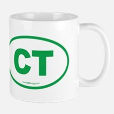 Connecticut CT Euro Oval Mug
