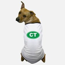 Connecticut CT Euro Oval Dog T-Shirt