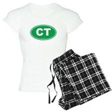 Connecticut CT Euro Oval Pajamas