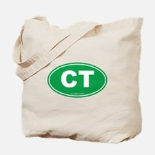 Connecticut CT Euro Oval Tote Bag