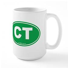 Connecticut CT Euro Oval Mug