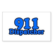 911 Dispatcher Rectangle Decal