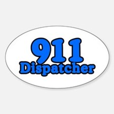 911 Dispatcher Oval Decal