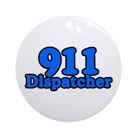 911 Dispatcher Ornament (Round)