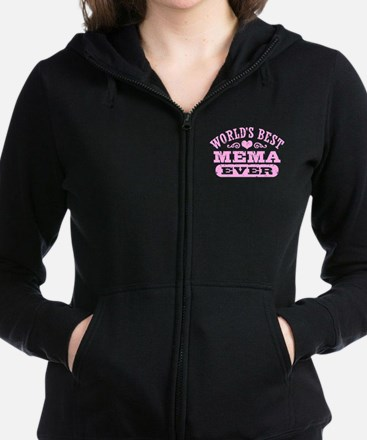 World's Best Mema Ever Women's Zip Hoodie