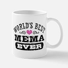 World's Best Mema Ever Small Mugs