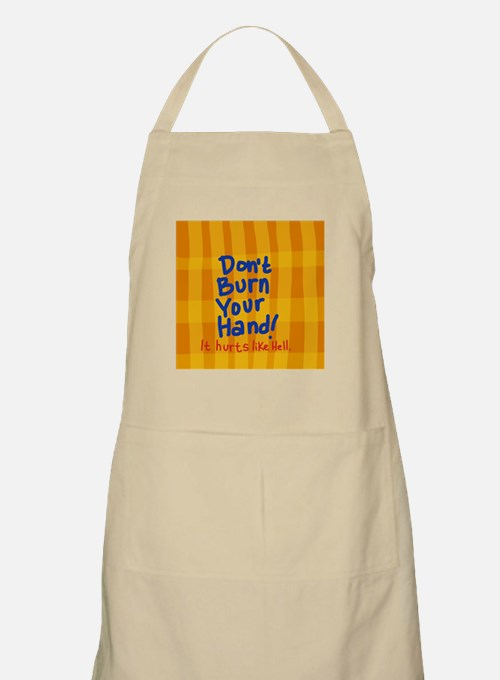 Don't Burn Your Hand Oven Mitts Apron