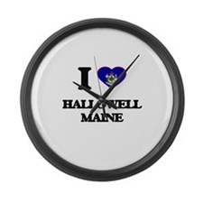 I love Hallowell Maine Large Wall Clock