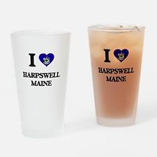 I love Harpswell Maine Drinking Glass